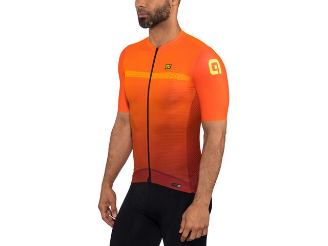 Alé Cycling PRS Fade Miehet Pyöräilypaita lyhythihainen , oranssi/punainen